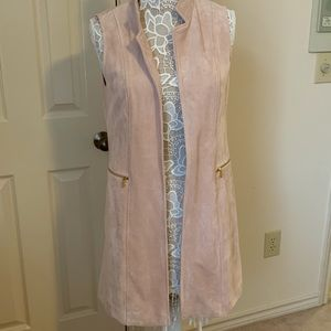 Calvin Klein Pale Pink Suede-Feel Vest